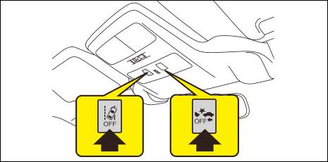 それぞれのスイッチを2秒以上押し続けるとOFFにできます。メーター内の表示灯が点灯します。再度、長押しするとONになり、表示灯が消灯します。