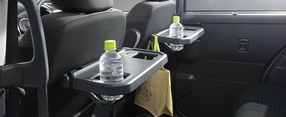 ジャスティ シートバックテーブル[ショッピングフック・ボトルホルダー2個付](運転席/助手席)