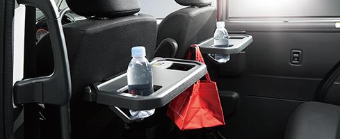 Justy koltuk arka tablo [iki (Sürücü koltuğu / yolcu koltuğu) Alışveriş kanca ve şişe tutucu